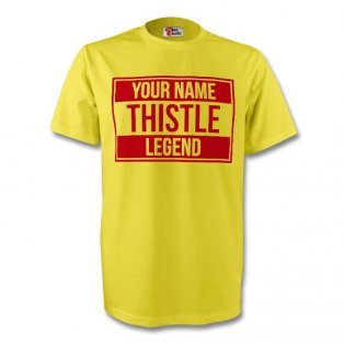 Your Name Partick Thistle Legend Tee (yellow) - Kids