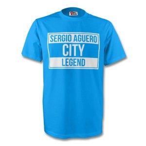Sergio Aguero Man City Legend Tee (sky Blue) - Kids