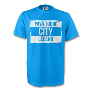 Yaya Toure Man City Legend Tee (sky Blue)