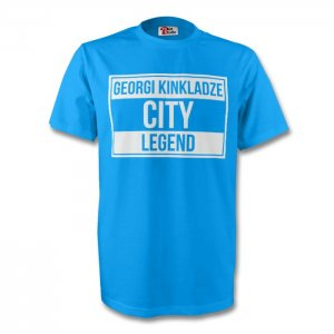 Georgi Kinkladze Man City Legend Tee (sky Blue) - Kids