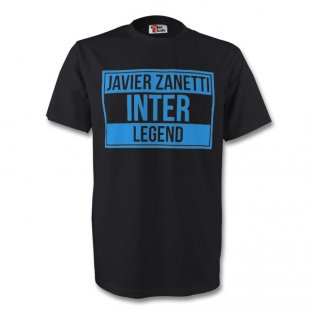 Javier Zanetti Inter Milan Legend Tee (black) - Kids