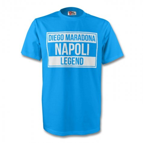 Diego Maradona Napoli Legend Tee (sky Blue) - Kids