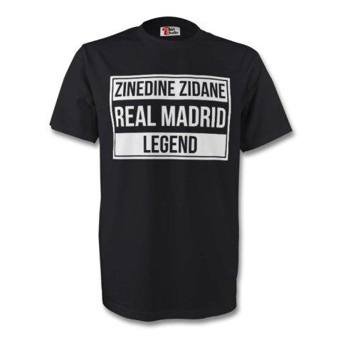 Zinedine Zidane Real Madrid Legend Tee (black) - Kids
