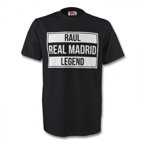 Raul Real Madrid Legend Tee (black) - Kids