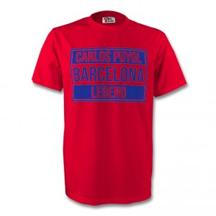 Carlos Puyol Barcelona Legend Tee (red) - Kids