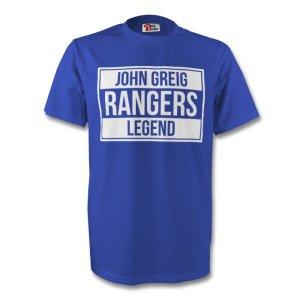 John Greig Rangers Legend Tee (blue) - Kids