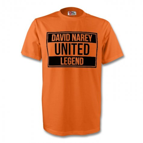 David Narey Dundee United Legend Tee (orange) - Kids