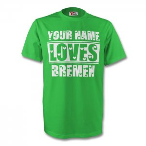 Your Name Loves Bremen T-shirt (green) - Kids