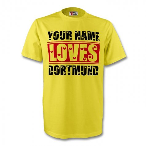 Your Name Loves Dortmund T-shirt (yellow)