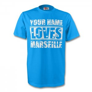 Your Name Loves Marseille T-shirt (sky) - Kids