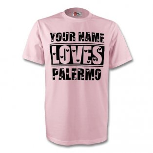 Your Name Loves Palermo T-shirt (pink) - Kids
