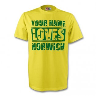 Your Name Loves Norwich T-shirt (yellow) - Kids
