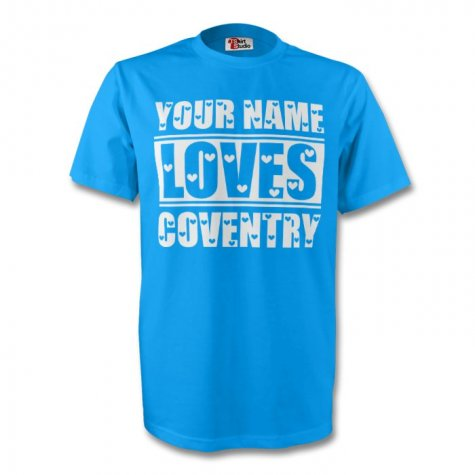 Your Name Loves Coventry T-shirt (sky) - Kids