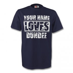 Your Name Loves Dundee T-shirt (navy) - Kids