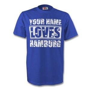 Your Name Loves Hamburg T-shirt (blue)
