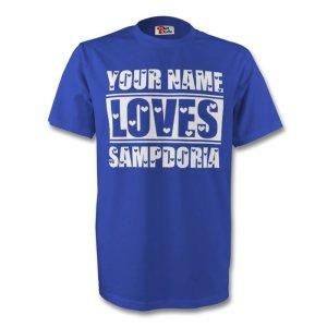 Your Name Loves Sampdoria T-shirt (blue)