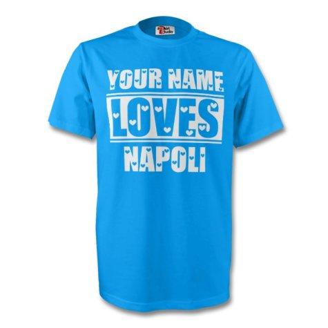 Your Name Loves Napoli T-shirt (sky) - Kids