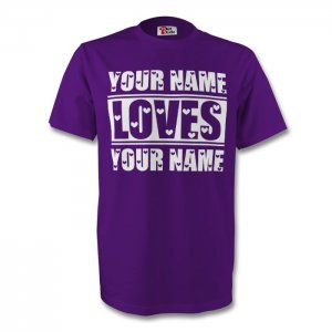 Your Name Loves Your Name T-shirt (purple)