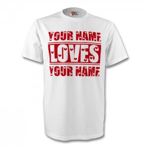 Your Name Loves Your Name T-shirt (white) - Kids