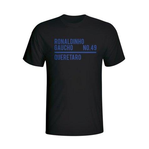 Ronaldinho Queretaro Squad T-shirt (black) - Kids