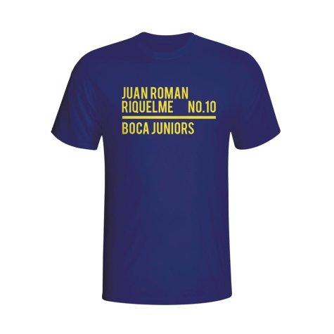 Juan Roman Riquelme Boca Juniors Squad T-shirt (navy)