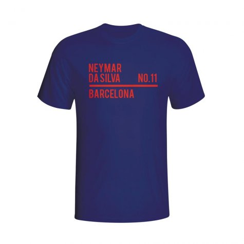 Neymar Barcelona Squad T-shirt (navy) - Kids