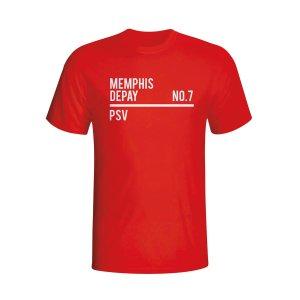 Memphis Depay Psv Squad T-shirt (red)