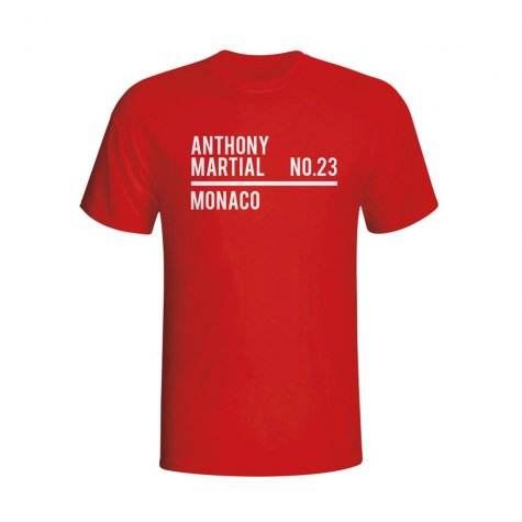 Anthony Martial Monaco Squad T-shirt (red) - Kids