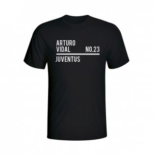 Arturo Vidal Juventus Squad T-shirt (black) - Kids