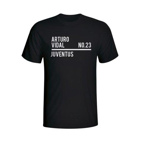 Arturo Vidal Juventus Squad T-shirt (black)