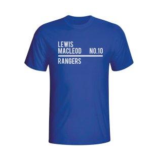 Lewis Macleod Rangers Squad T-shirt (blue) - Kids