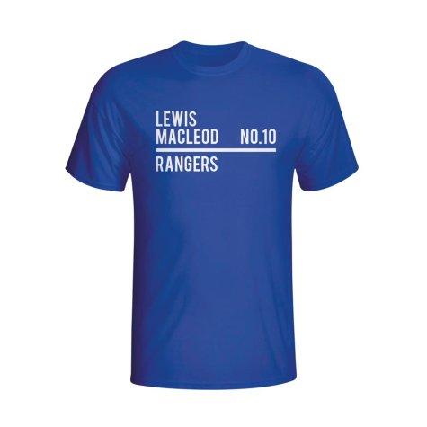 Lewis Macleod Rangers Squad T-shirt (blue)