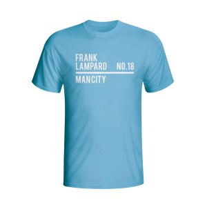 Frank Lampard Man City Squad T-shirt (sky) - Kids