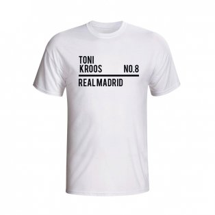 Toni Kroos Real Madrid Squad T-shirt (white)