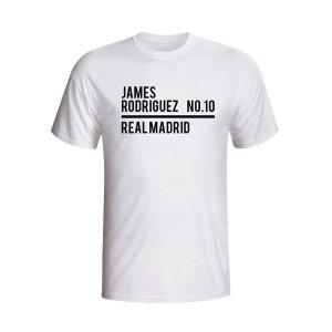James Rodriguez Real Madrid Squad T-shirt (white)