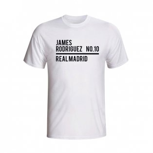 James Rodriguez Real Madrid Squad T-shirt (white) - Kids