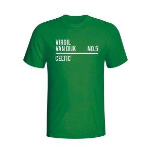 Virgil Van Dijk Celtic Squad T-shirt (green) - Kids
