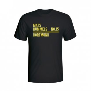 Mats Hummels Borussia Dortmund Squad T-shirt (black) - Kids