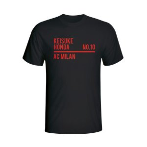 Keisuke Honda Ac Milan Squad T-shirt (black)