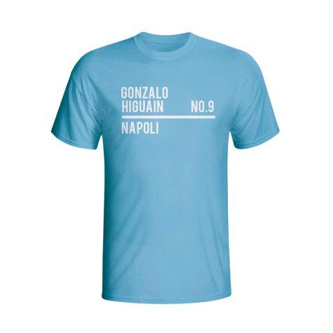 Gonzalo Higuain Napoli Squad T-shirt (sky) - Kids