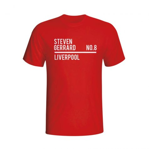 Steven Gerrard Liverpool Squad T-shirt (red) - Kids