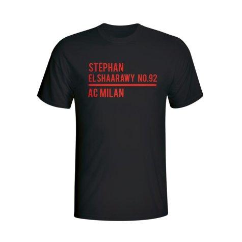 Stephen El Shaarawy Ac Milan Squad T-shirt (black) - Kids