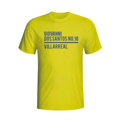 Giovanni Dos Santos Villarreal Squad T-shirt (yellow) - Kids