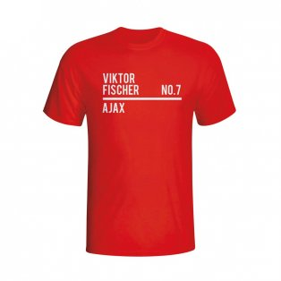 Viktor Fischer Ajax Squad T-shirt (red)