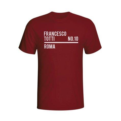 Francesco Totti Roma Squad T-shirt (maroon) - Kids