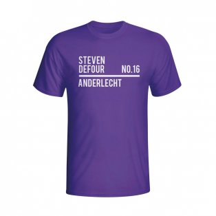 Steven Defour Anderlecht Squad T-shirt (purple) - Kids