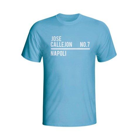 Jose Callejon Napoli Squad T-shirt (sky) - Kids