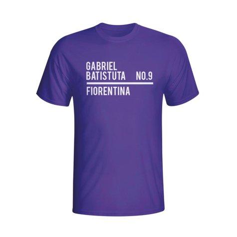 Gabriel Batistuta Fiorentina Squad T-shirt (purple) - Kids