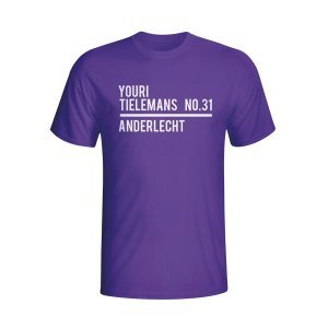 Youri Tielemans Anderlecht Squad T-shirt (purple) - Kids