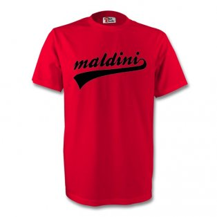 Paolo Maldini Ac Milan Signature Tee (red) - Kids